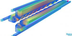 图3由热诱导应力引起的几何形状变形(显示为网格轮廓)