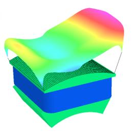 6极同步发电机转子中的极面温度分布