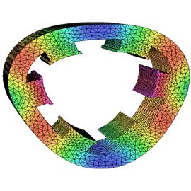 SRM定子在基本振荡模式下