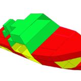 移除了一些板的船模型以显示内部结构